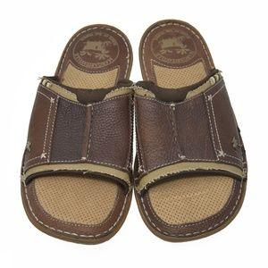 Margaritaville Sz 9M Brown Leather Sandals